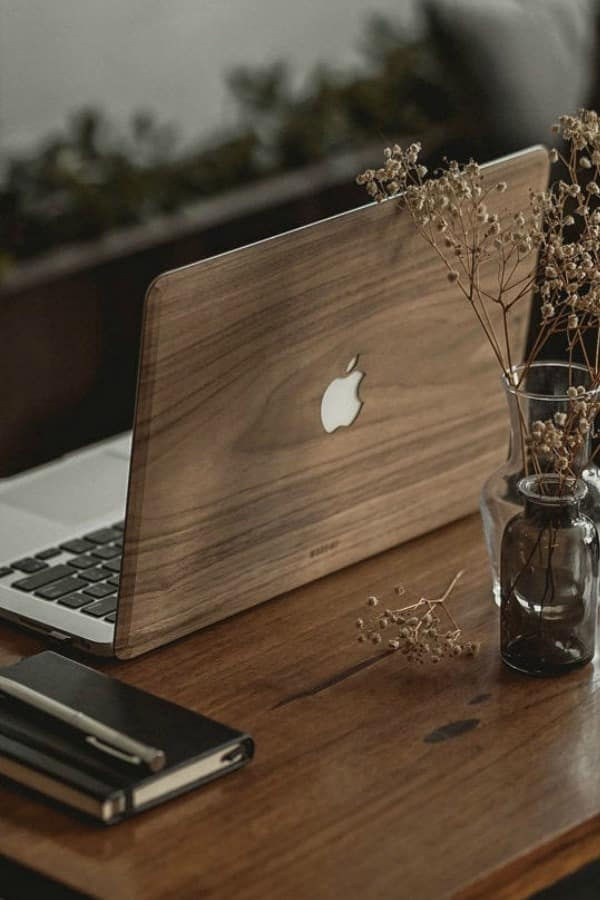 Macbook Walnut Wood Case For Apple Notebooks By Thewoodwee | Seventh Anniversary Gifts - gift ideas for your 7th wedding anniversary