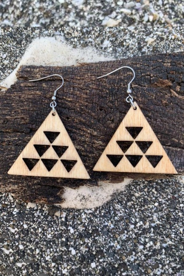 Mauna Kea Handmade Wood Earrings By HawaiianJungleDesign | Seventh Anniversary Gifts - gift ideas for your 7th wedding anniversary