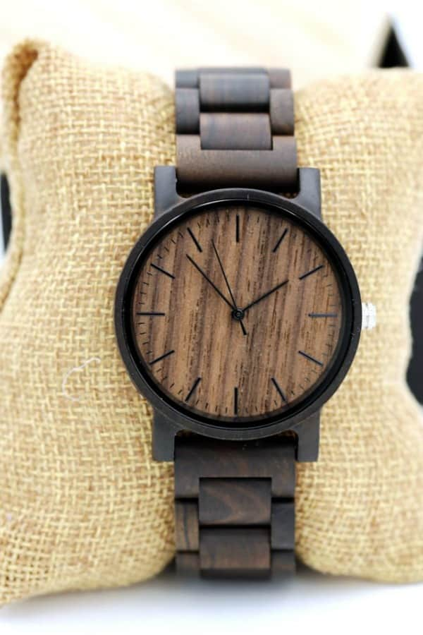 Personalized Wooden Watch Engraved With Text By MintDesigns2019 | Seventh Anniversary Gifts - gift ideas for your 7th wedding anniversary