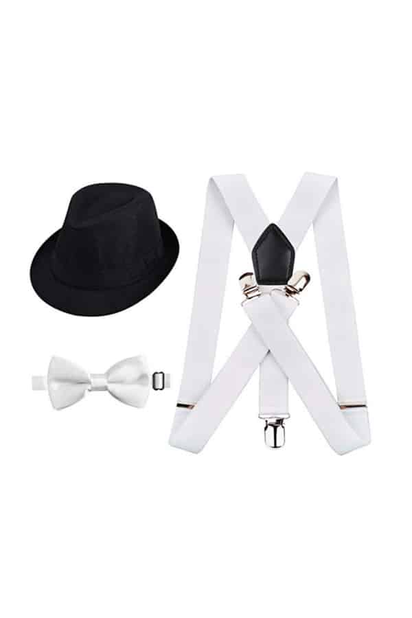 Suspender, Bow Tie and Hat Set for Kids By Alizeal