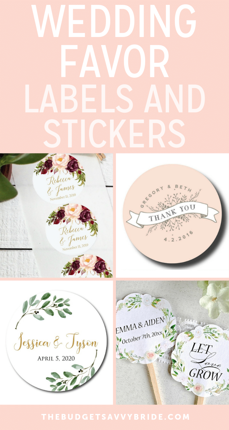 20 Wedding Favor Labels And Stickers To