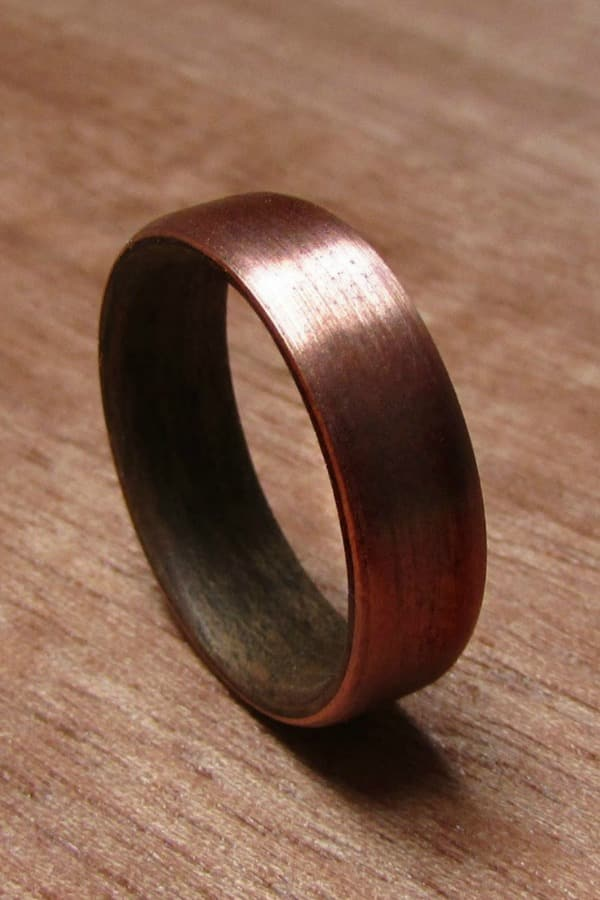Walnut Wood And Copper Ring By Dzefer | Seventh Anniversary Gifts - gift ideas for your 7th wedding anniversary