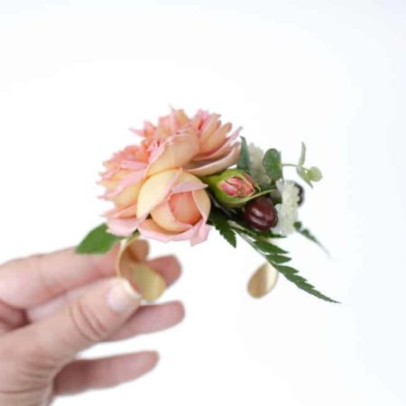 bloom culture flowers - diy wedding flower cuffs - corsage alternative
