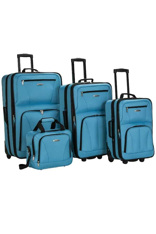 4-Piece Softside Luggage | affordable luggage and travel finds for your honeymoon