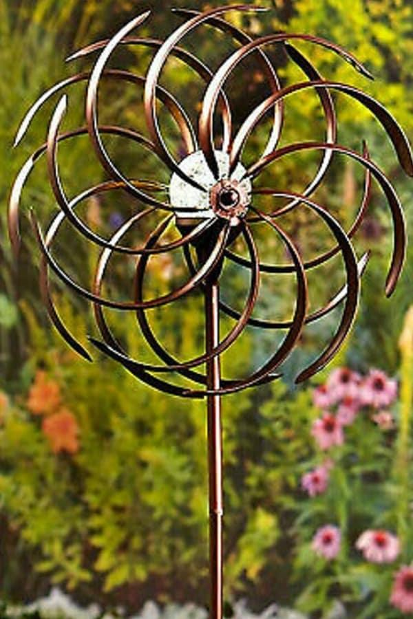 Bronze Garden Wind Spinner - 8th Wedding Anniversary Gift Ideas | Gifts for 8th Anniversary