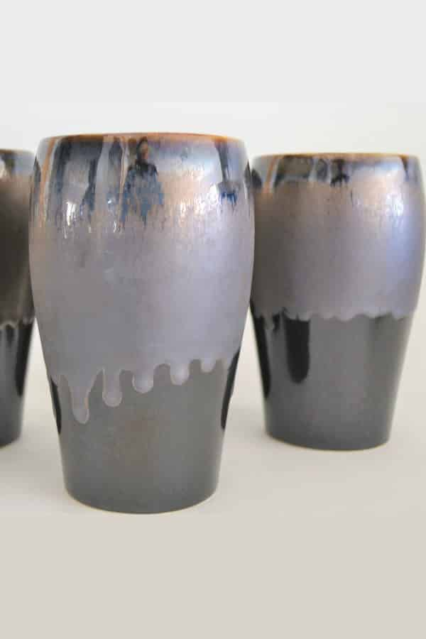Bronze Pottery Beer Glass - 8th Wedding Anniversary Gift Ideas | Gifts for 8th Anniversary