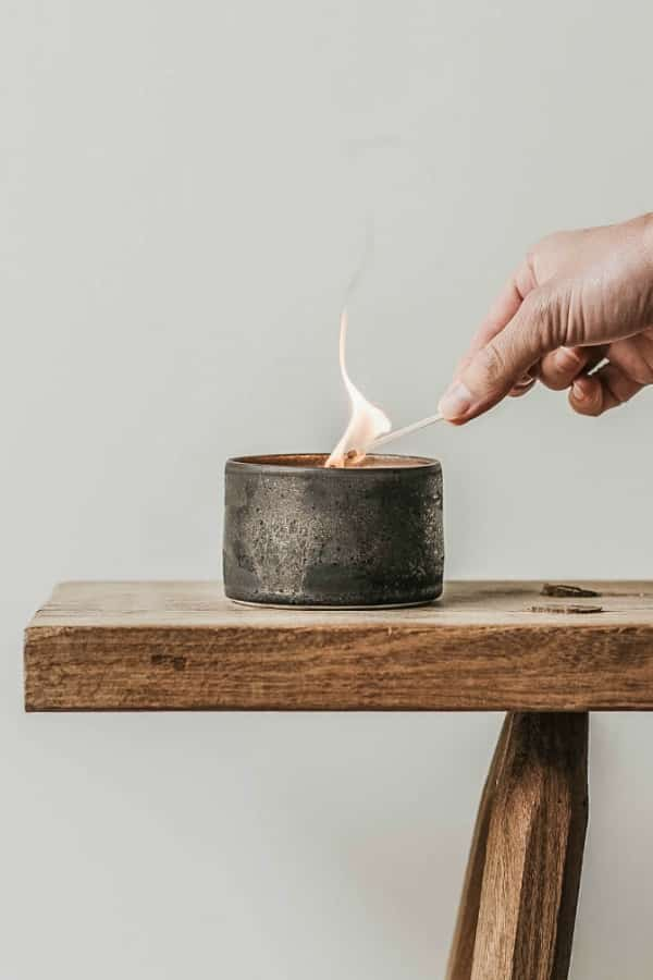 Bronze Pottery Candle Vessel - 8th Wedding Anniversary Gift Ideas | Gifts for 8th Anniversary