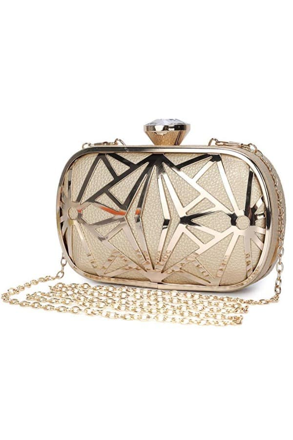 Metal Hollow Evening Bag - Bridal handbags for your wedding day