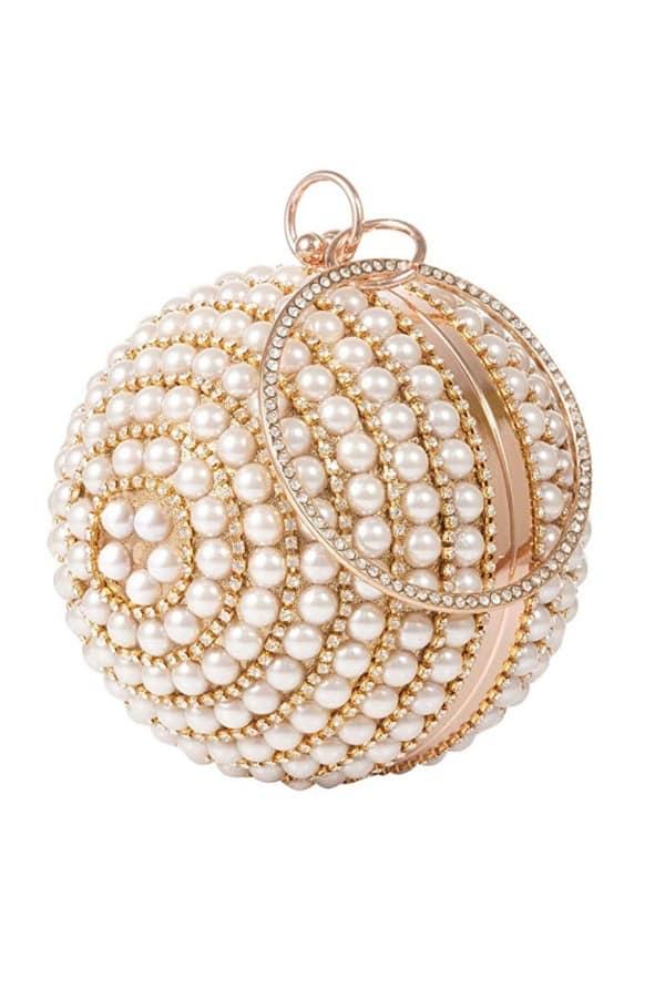 Round Ball Pearl Handbag - Bridal handbags for your wedding day
