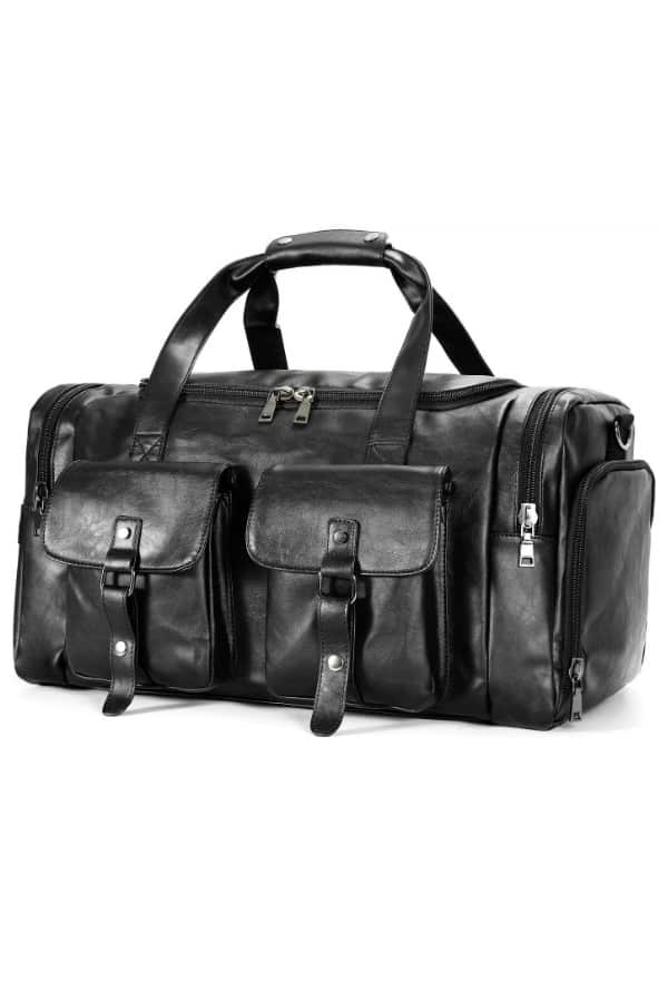 UntitledLeather Duffel Bag For Him | affordable luggage and travel finds for your honeymoon
