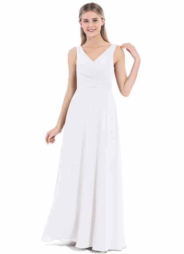 azazie white bridesmaids dresses nala