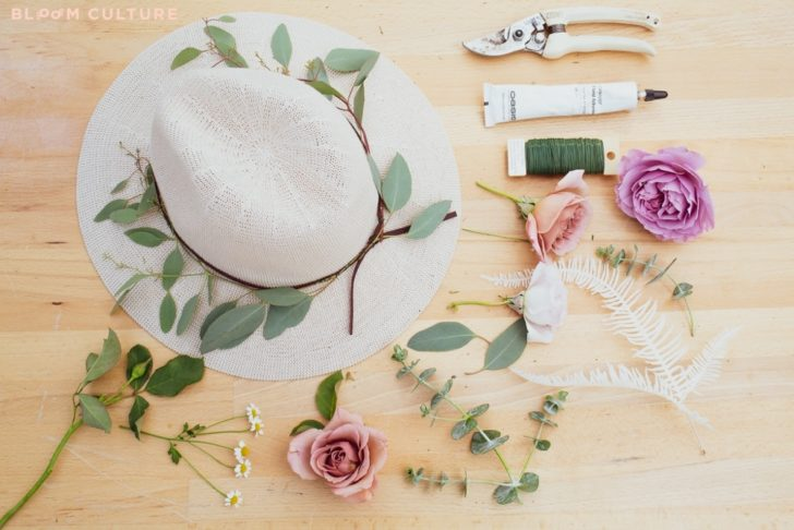 diy wedding flower hat bloom culture flowers