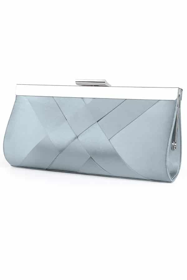 Light Blue Satin Clutch - Bridal handbags for your wedding day