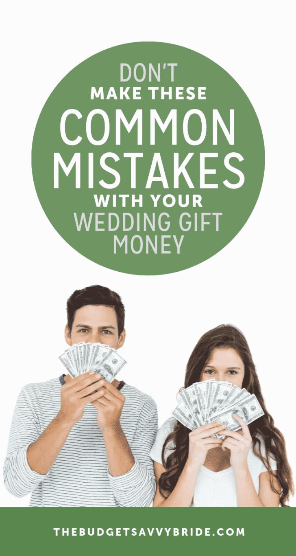 wedding gift money mistakes