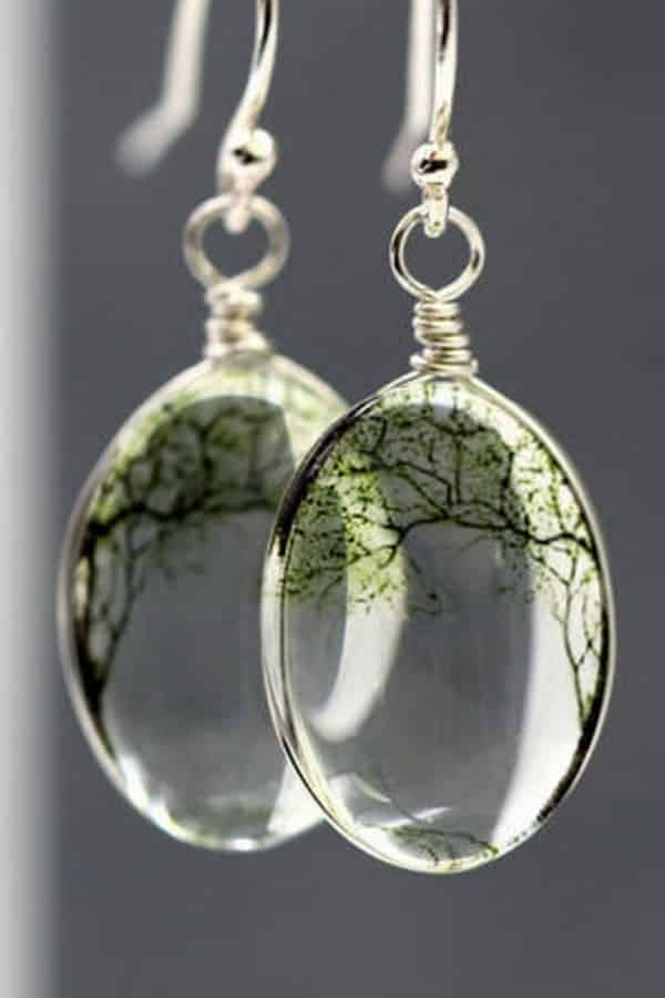 9th Wedding Anniversary Gift Ideas Bending Willow Transparent Earrings By VillaSorgenfrei