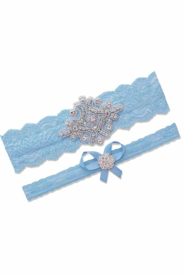 Affordable Ideas for Your Something Blue | Blue Garter Set For Bride by Contessa Garters