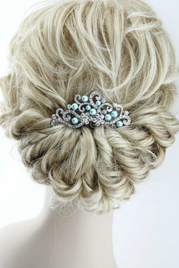 Unique Bridal Headpieces from Etsy | Blue Pearl Hair Comb by BestForBrides