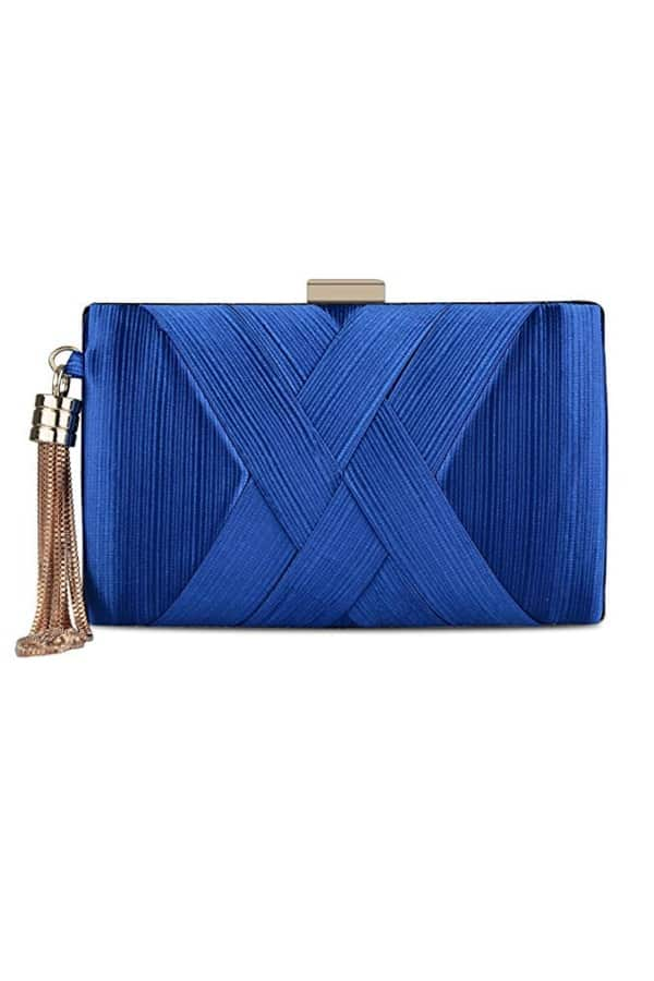Affordable Ideas for Your Something Blue | BlueTassel Clutch by KISSCHIC