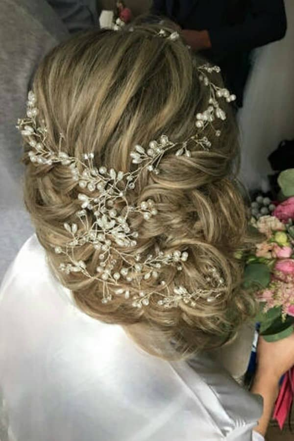Unique Bridal Headpieces from Etsy | Boho 40 Inch Bridal Hair Vine by BlueSkyHorizons