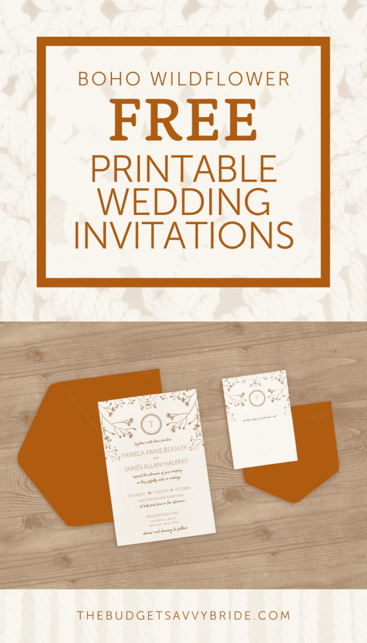 Boho Wildflower Free Wedding Printables