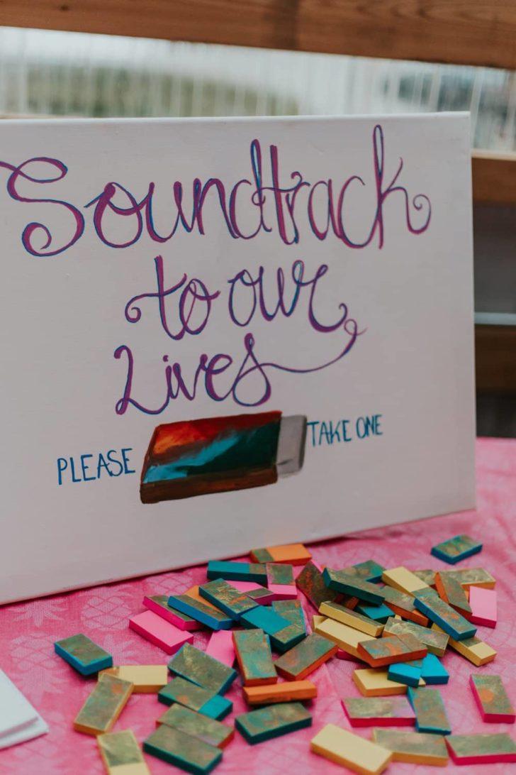 USB Drive Playlist Wedding Favors - Fair trade backyard wedding in Idaho