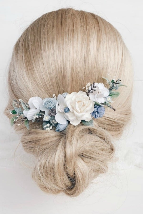 Unique Bridal Headpieces from Etsy | Flower Hair Comb by Serenity