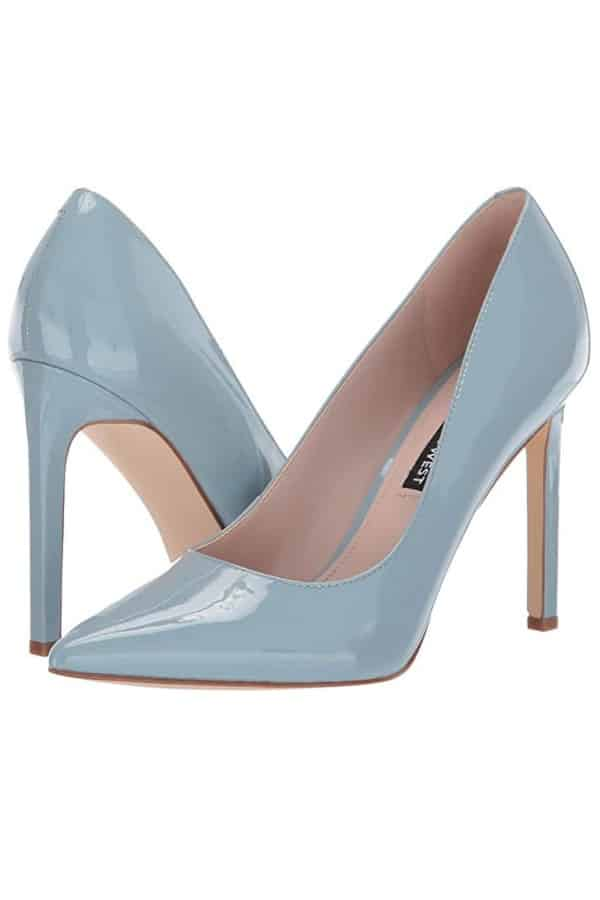 Affordable Ideas for Your Something Blue | Patent Leather Pump by Nine West
