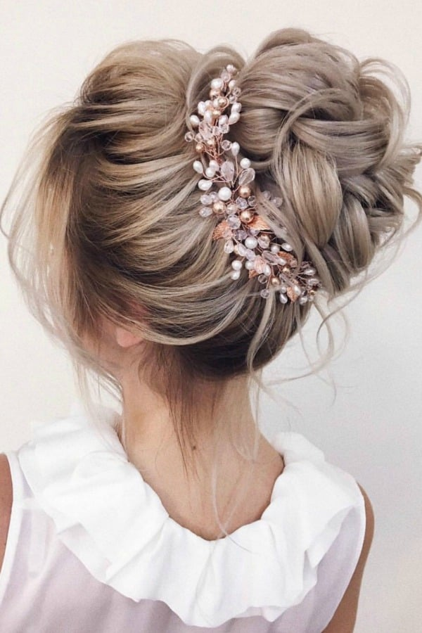 Unique Bridal Headpieces from Etsy - Rose Gold Bridal Hair Vine