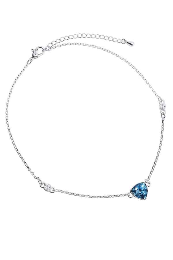 Affordable Ideas for Your Something Blue | Swarovski Crystal Ankle Bracelet by Lifestyle