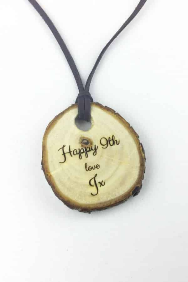 9th Wedding Anniversary Gift Ideas Willow Pendant By TheWoodHutGifts