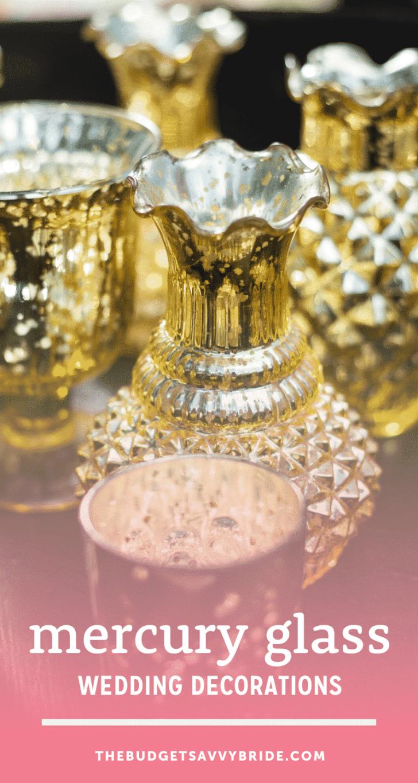 mercury glass wedding decor vessels