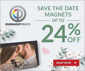 overnight prints save the dates
