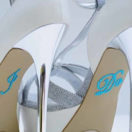 something blue wedding shoe stickers