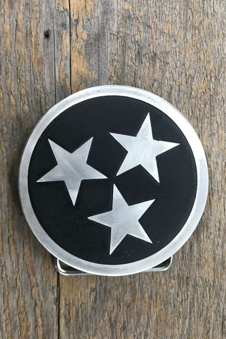 affordable tenth anniversary gift idea - aluminum belt buckle