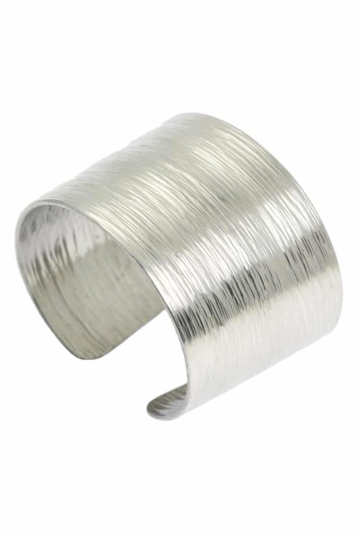 affordable tenth anniversary gift idea - aluminum bracelet cuff