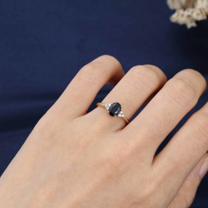 black sapphire engagement ring