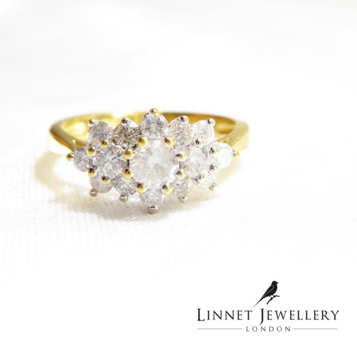 cluster ring linnet jewellery