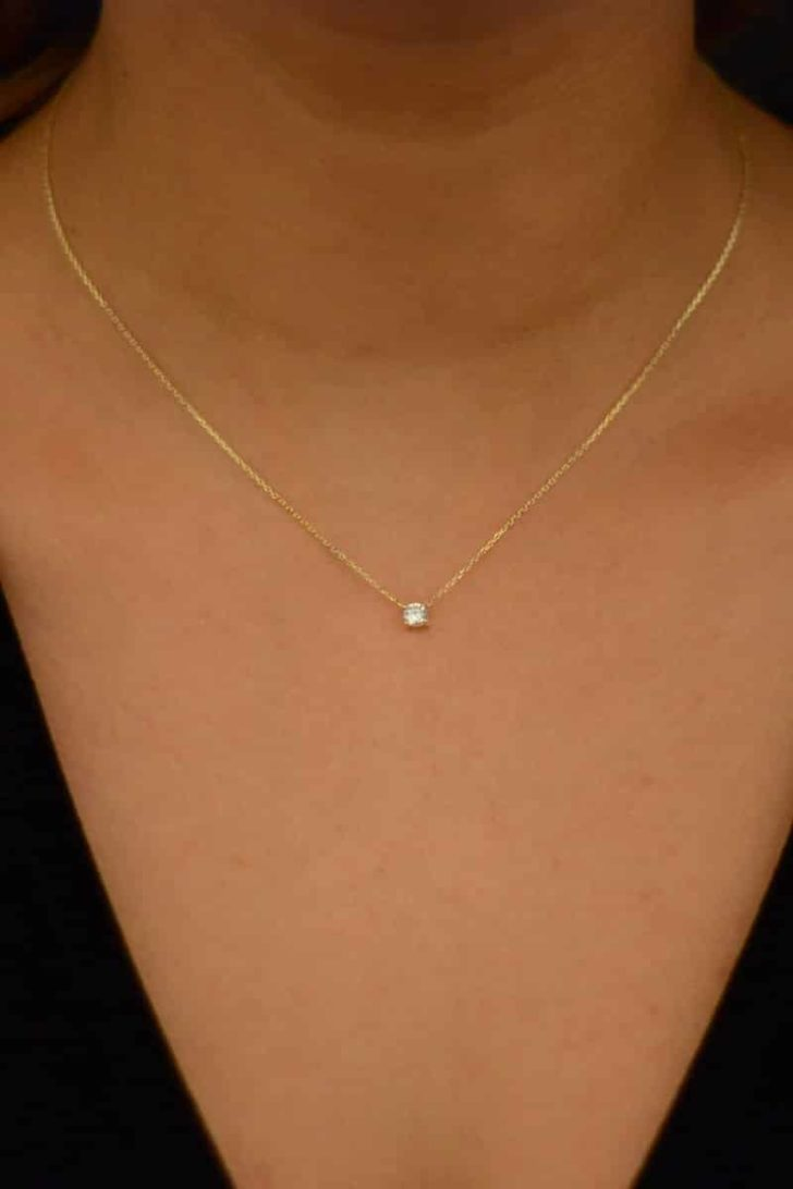 diamond necklace from etsy