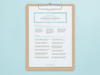 free printable wedding timeline checklist