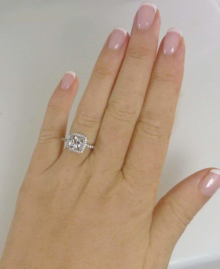 herkimer diamond engagement ring