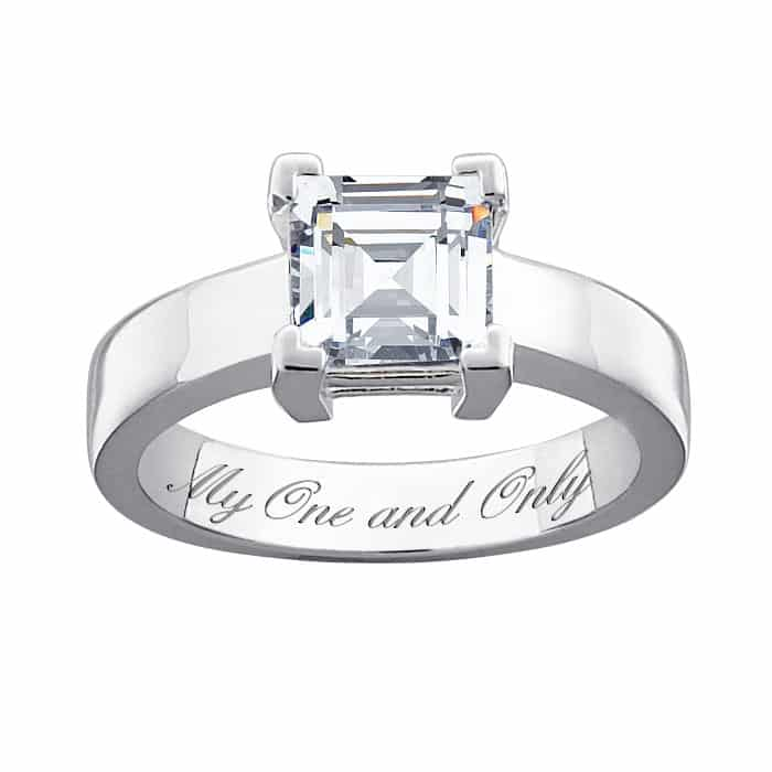 limoges jewelry engraved engagement ring