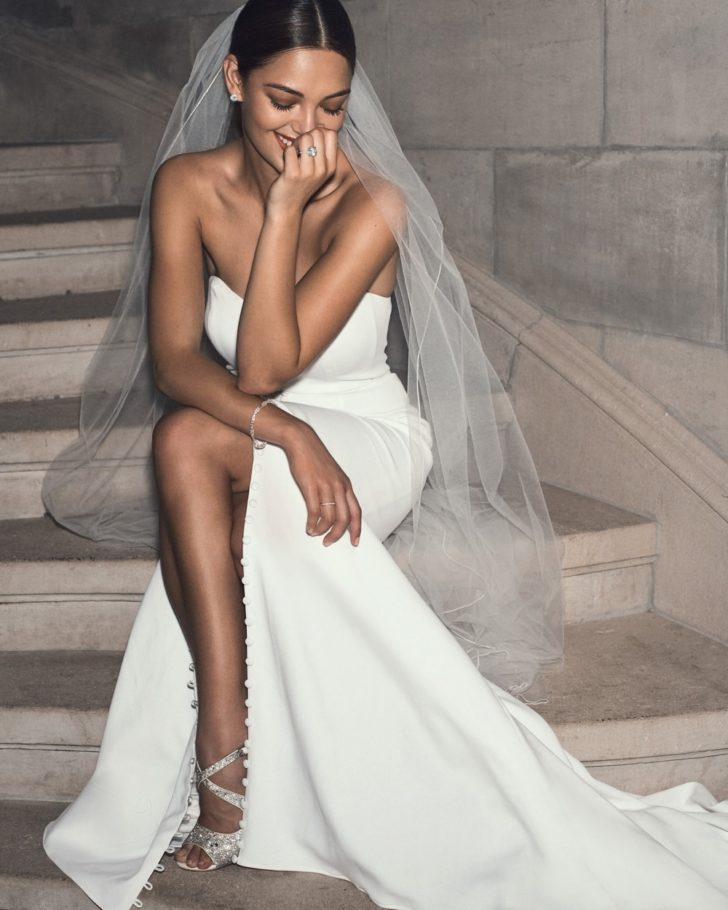 Minimalist Wedding Dresses from David's Bridal Clean + Modern Collection