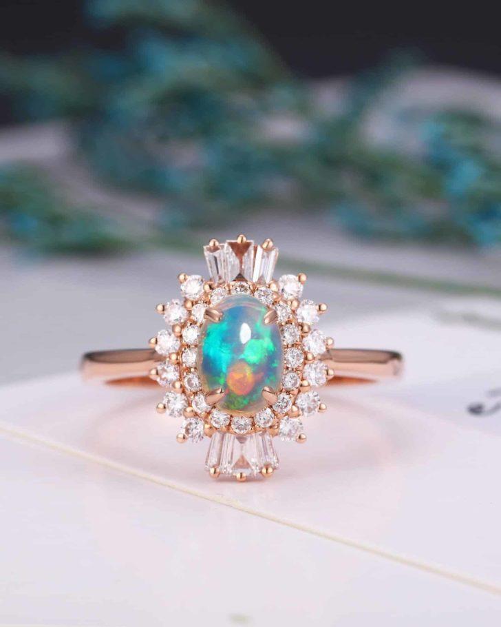 opal art deco ring