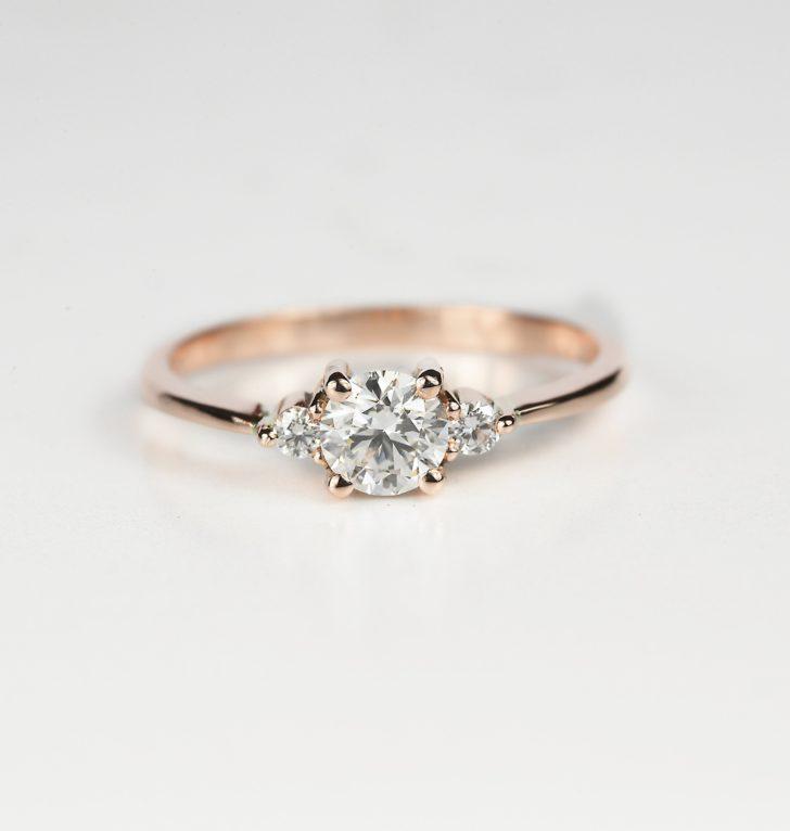 Rose Gold Engagement Ring DiorahJewellery