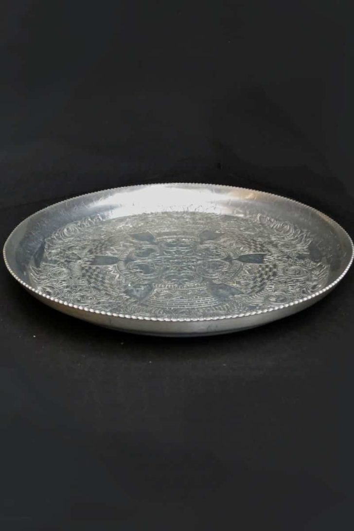 affordable tenth anniversary gift idea - vintage hammered aluminum tray