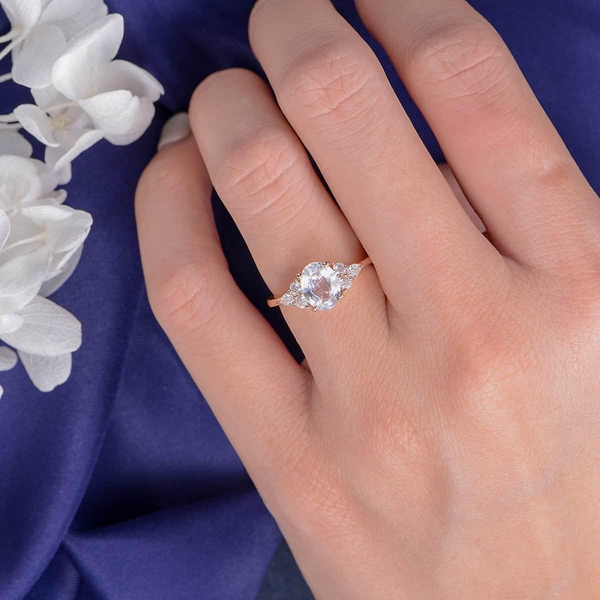 whitesapphire engagement ring from loveringsdesign