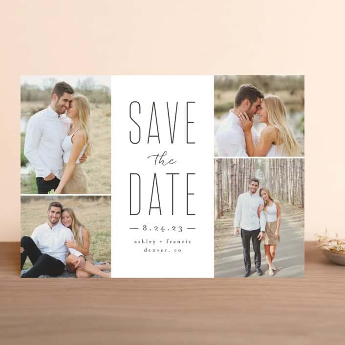 minted minimalist wedding design