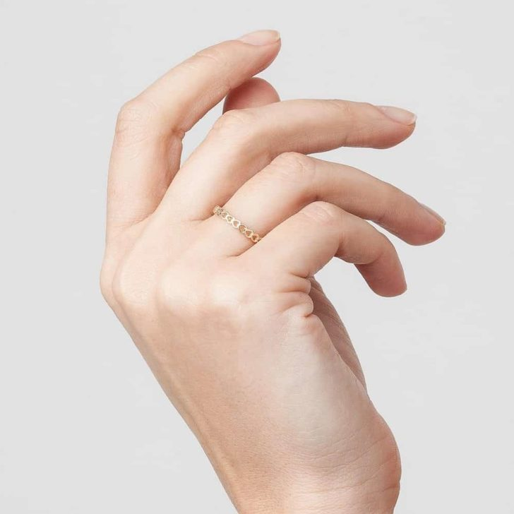 valentine's gift ideas : heart infinity ring from au rate