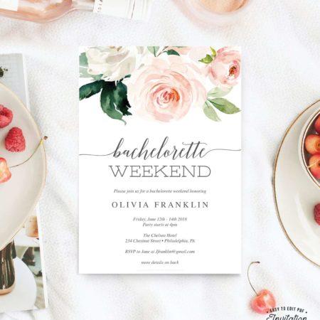 Bachelorette Weekend Invitation