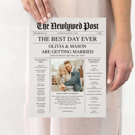 Newspaper Wedding Program - Creative Union Design